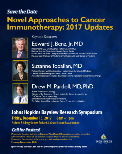 SAVE THE DATE : Johns Hopkins Center for Innovative Medicine
